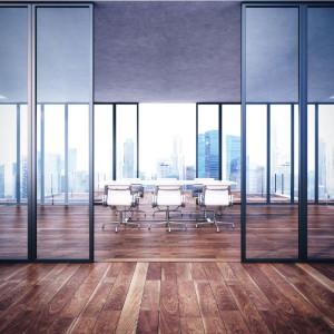 Empty contemporary office interior
